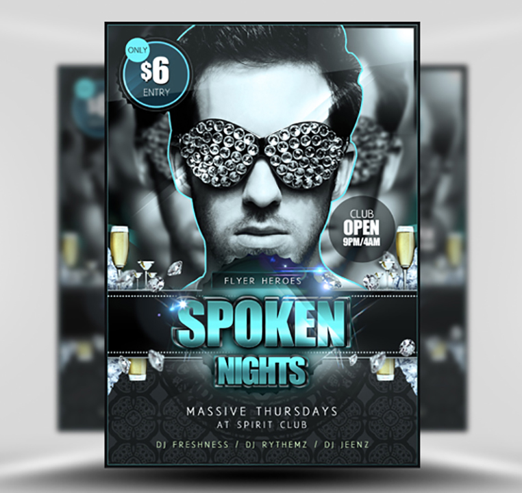 Spoken Nights flyerheroes 1