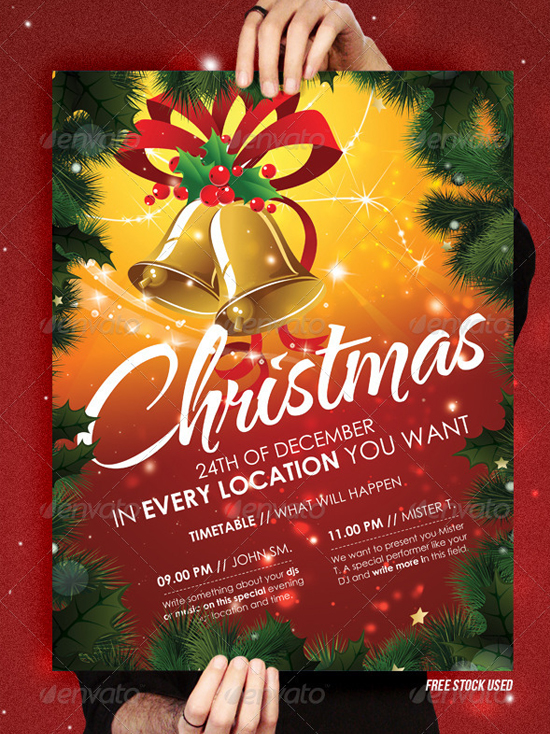 Christmas Party Flyer Sample http://flyerheroes.com/top-11-christmas-party-flyer-templates/