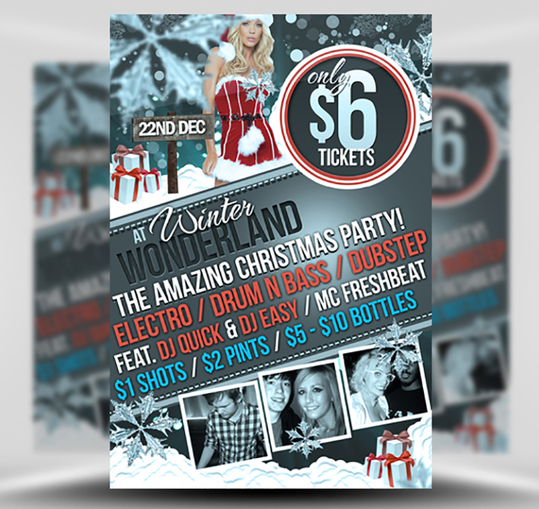 Free Christmas Party Flyer Template Psd Flyerheroes