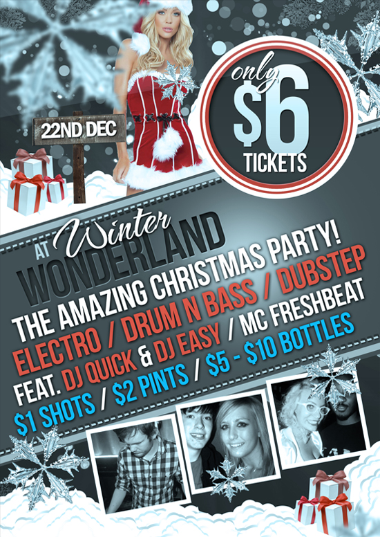 Free Christmas PSD Party Flyer Template Download