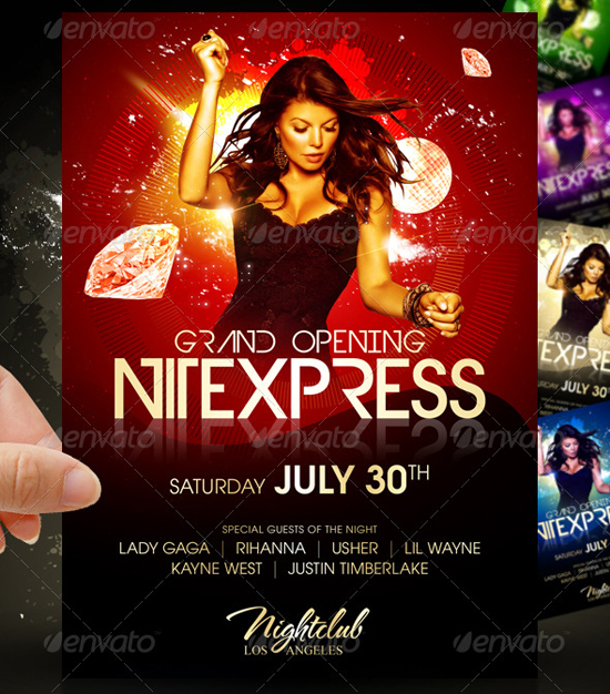 Nitexpress Party Flyer