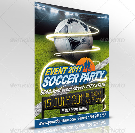 The Big List Top 100 Flyer Templates for 2011 – Sports Flyers Templates Free