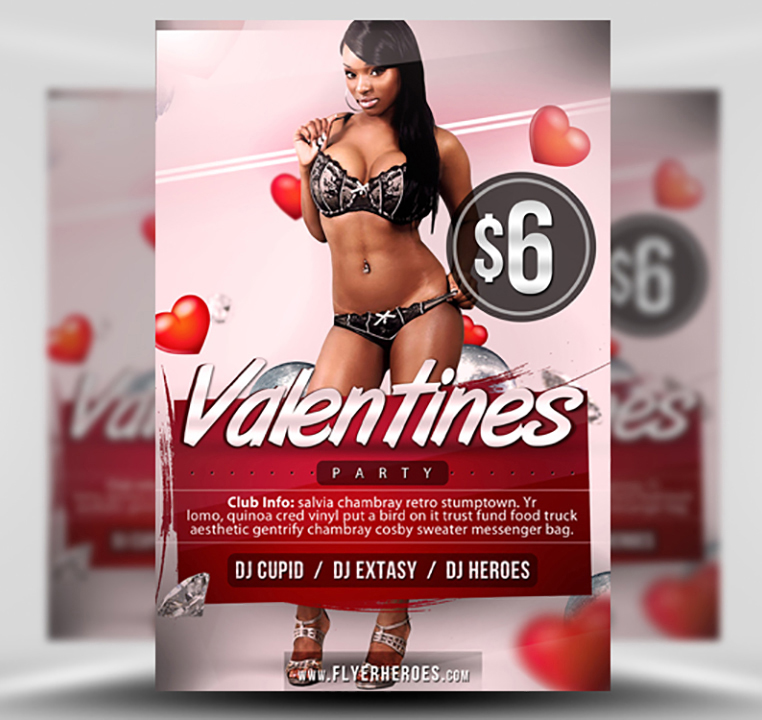 Free Valentine's Flyer Template 1