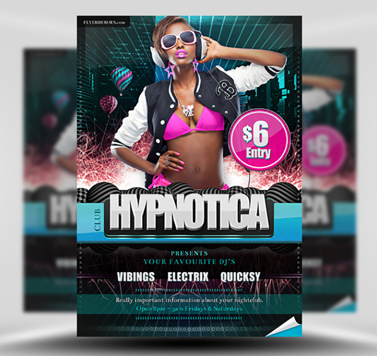 Hypnotica Free Club Flyer Template 1