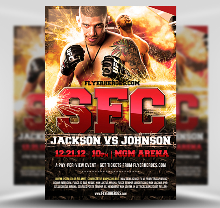 Free Mma Fight Night Flyer Template Flyerheroes