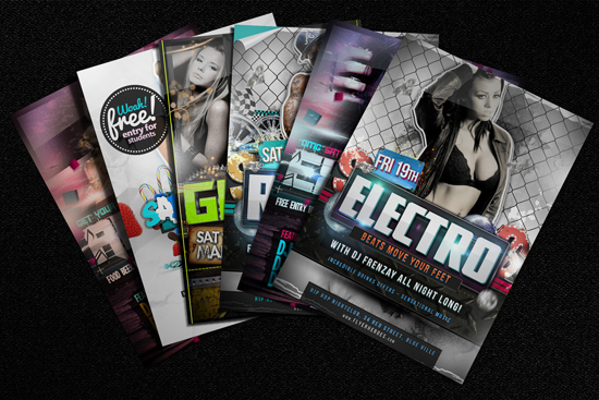 3 free Photorealistic Flyer Mock Ups by Carlos Viloria