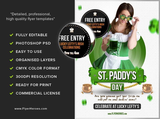 Free St Patrick S Day Flyer Template Flyerheroes