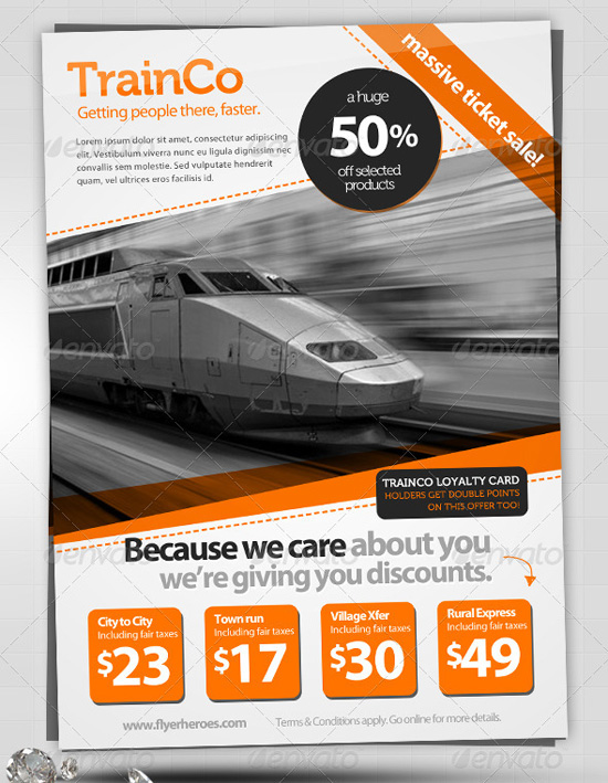 New Flyer Templates 2014: new flyer template 160 Free and Premium PSD ...