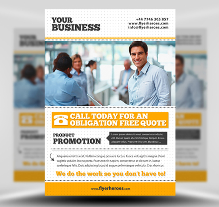 Free Business Flyer Template PSD Download – Templates for Flyers Free
