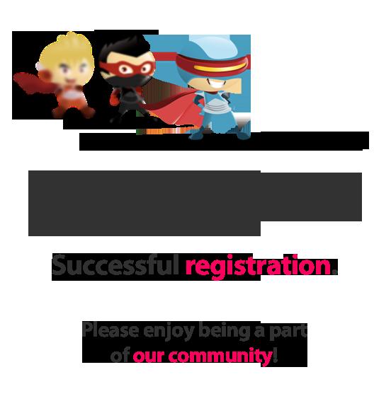 Successful registration!