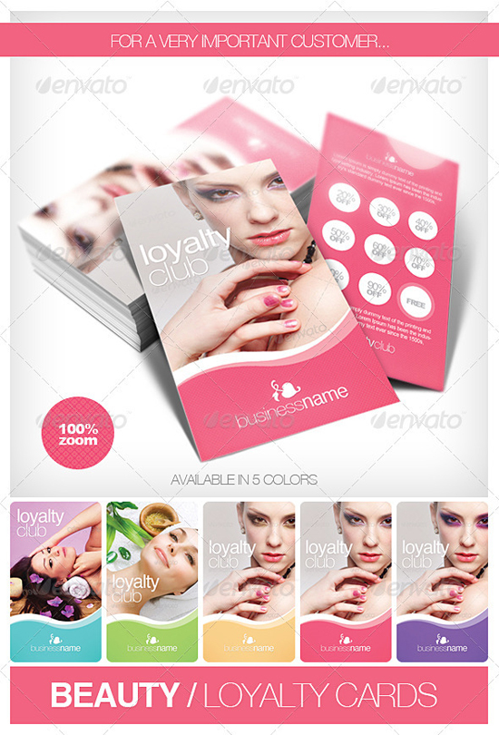 Beauty Fashion Loyalty Card Templates