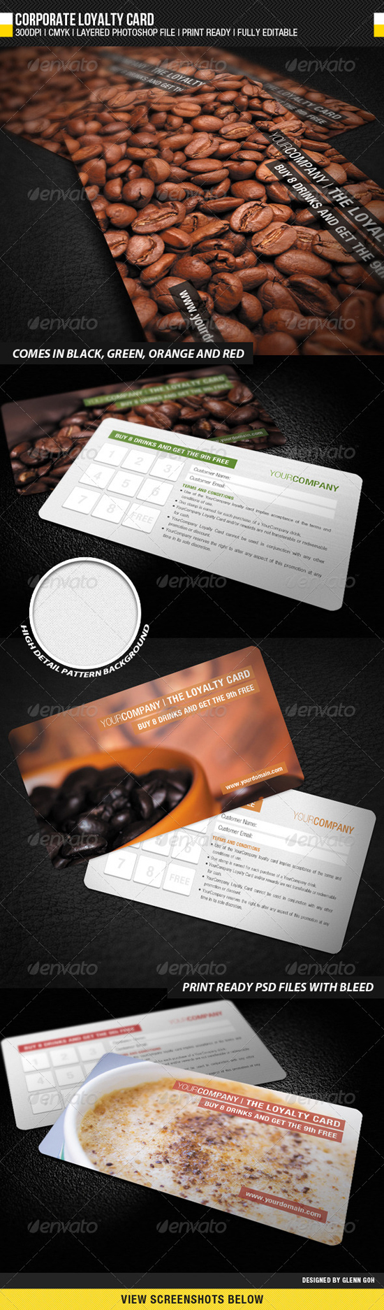 Coffee Corporate Loyalty Card
