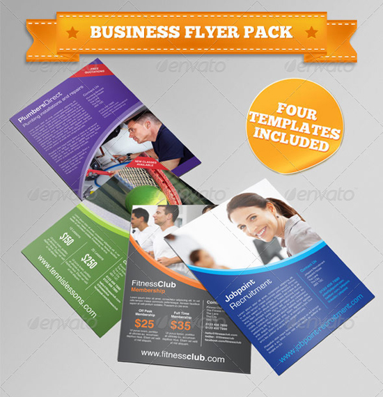 Indesign business flyer pack