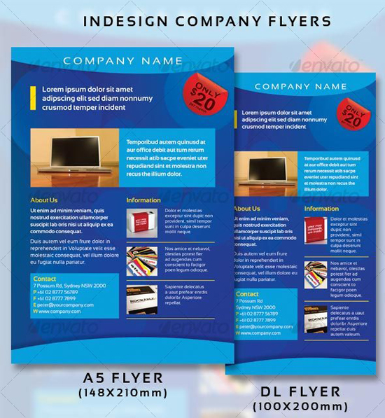 Indesign Company Flyer Templates