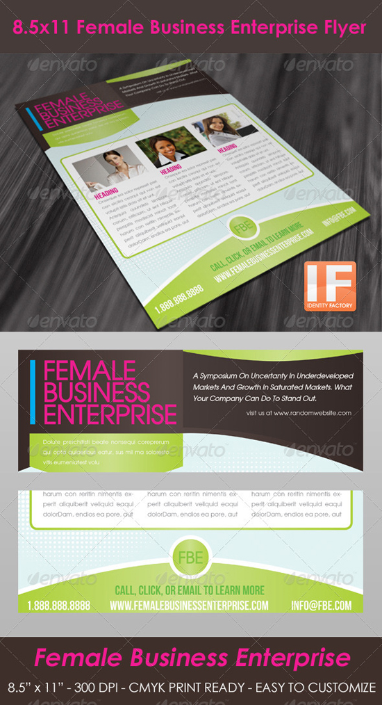 Indesign Female Flyer Template
