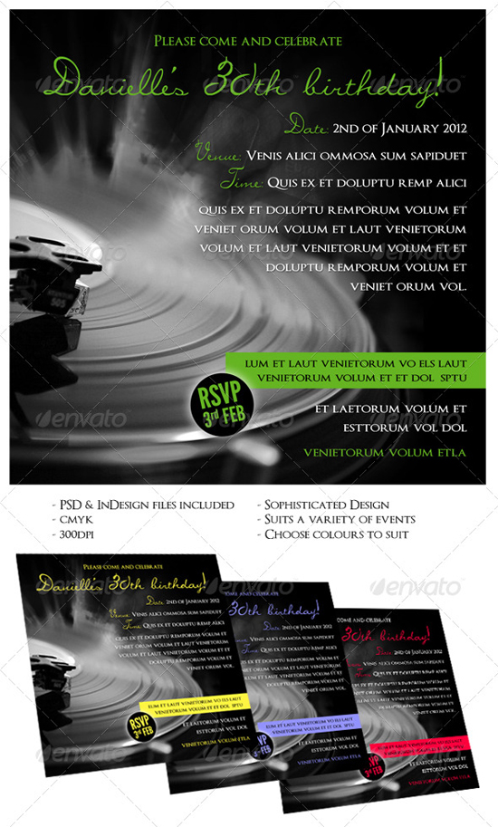 Indesign Party Flyer Template