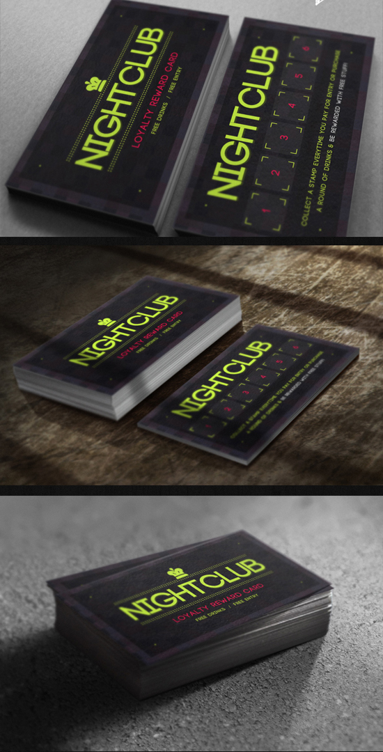 Nightclub Loyalty Card Template