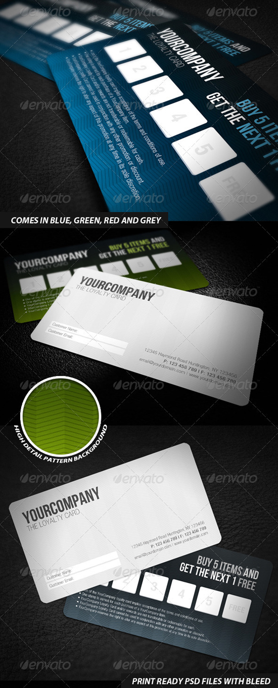 Professional Loyalty Card Templates