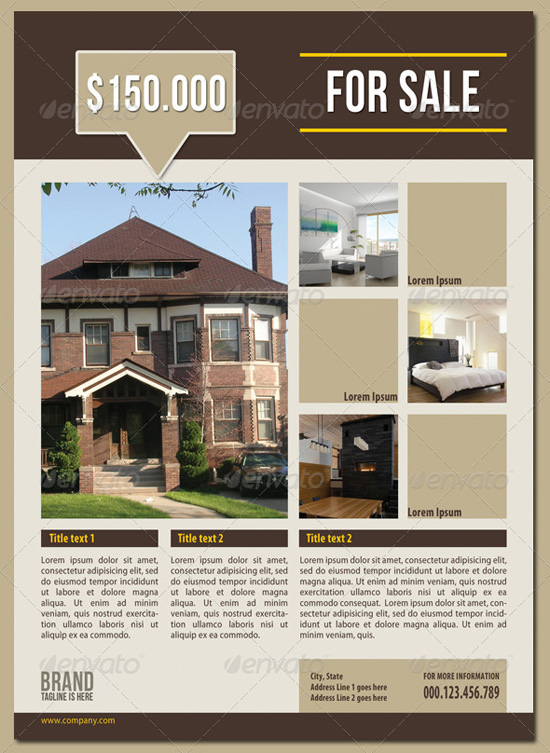 Business Flyer Ads - Real estate brochure templates free
