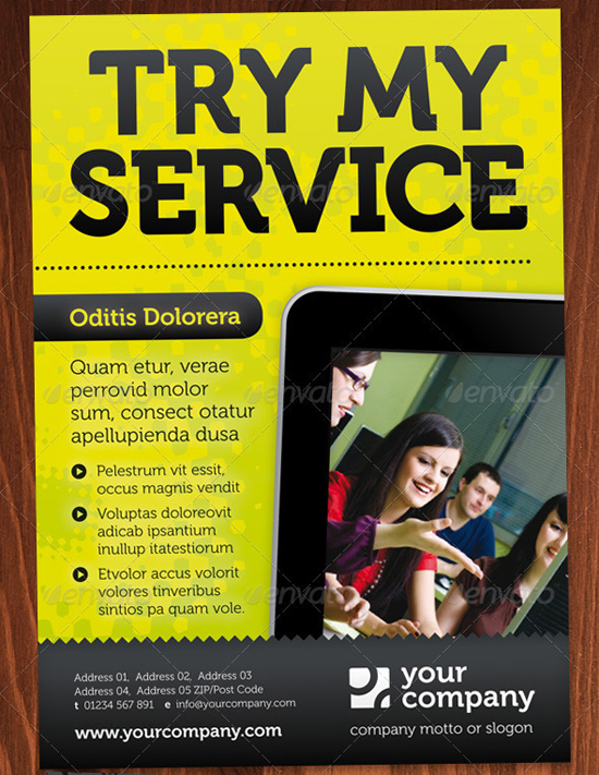 Try my service InDesign flyer template