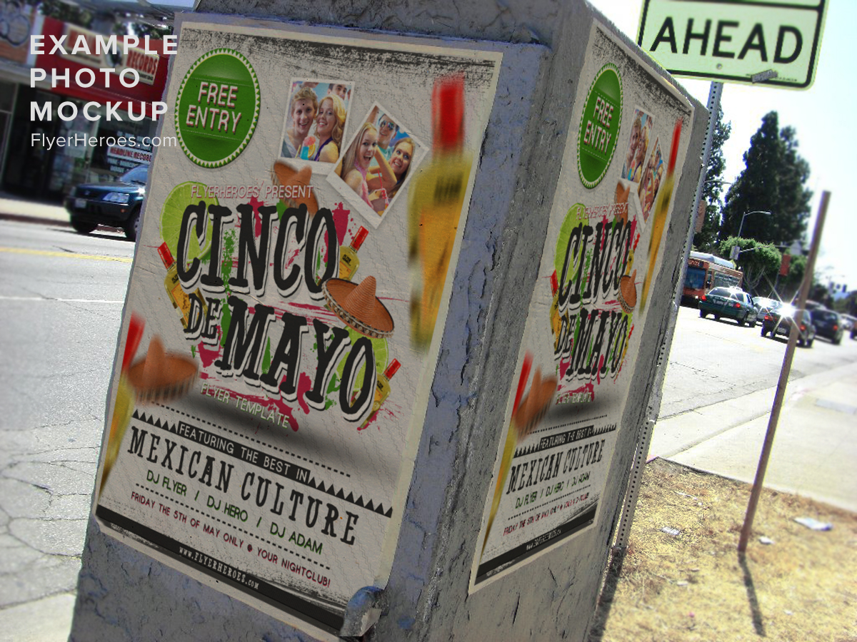 cinco de o flyer template psd flyerheroes in this bie we ve produced an awesome cinco de o flyer template a great choice for all your mexican themed cinco de o or the 5th of
