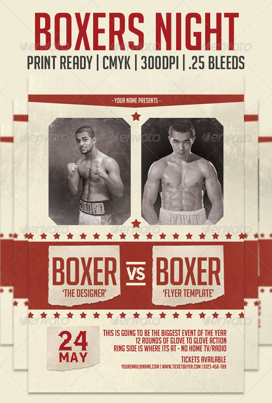 Boxing Poster Template Boxers-night-flyer-template.