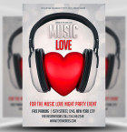 Free Music Love Flyer Template 1
