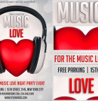 Free Music Love Flyer Template 2