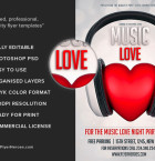 Free Music Love Flyer Template 3