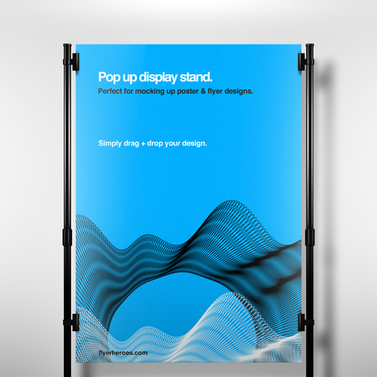 Free Pop Up Display Stand Mock Up