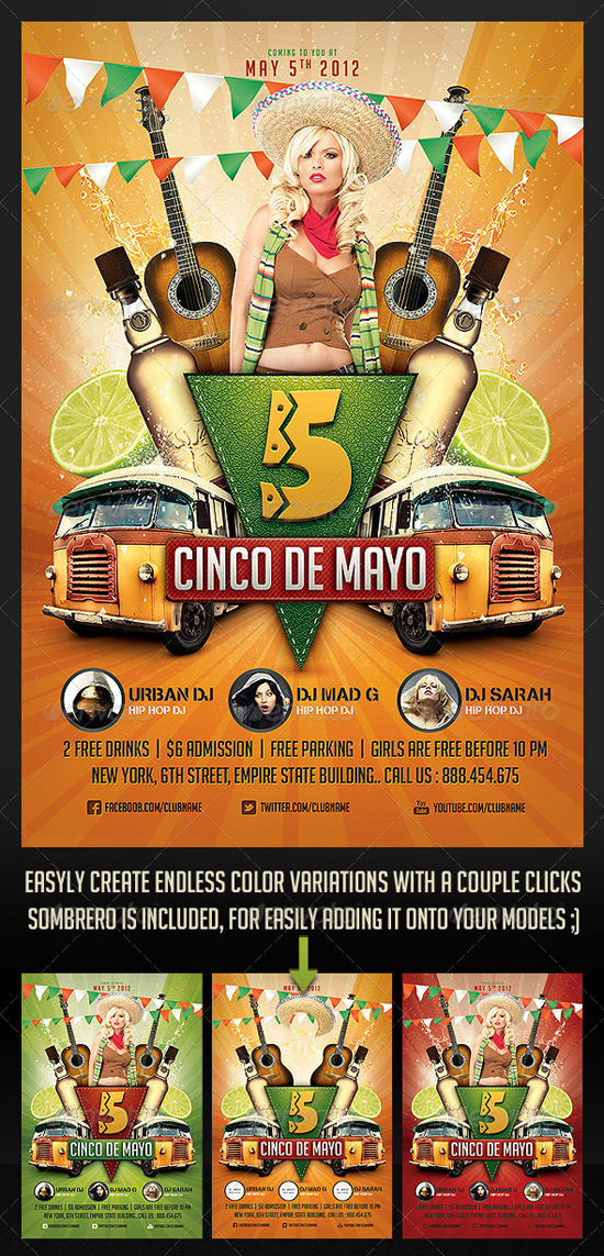 Cinco de Mayo Party Flyer 2