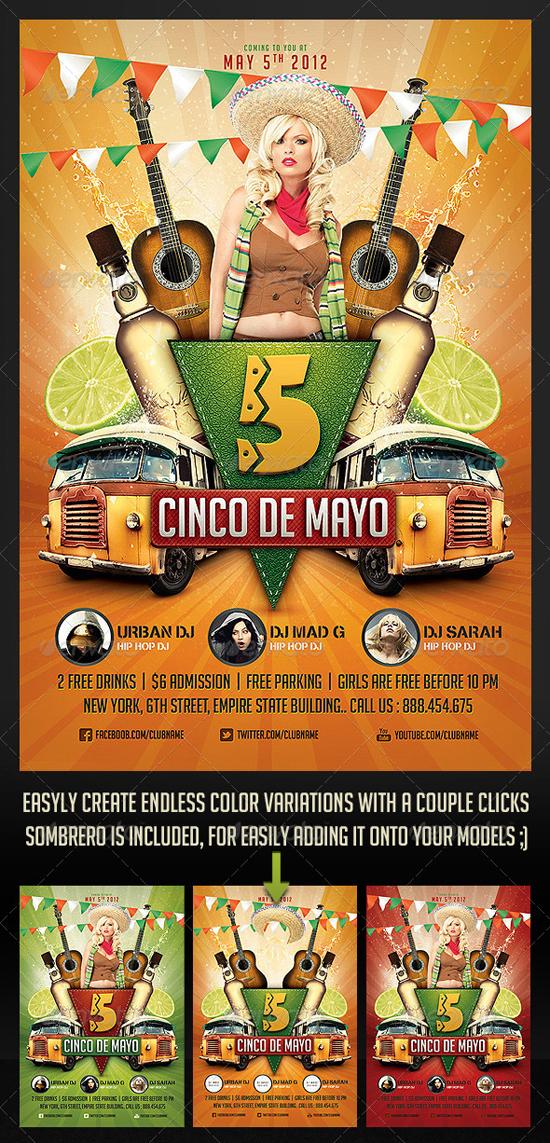 Cinco de Mayo Party Flyer 2
