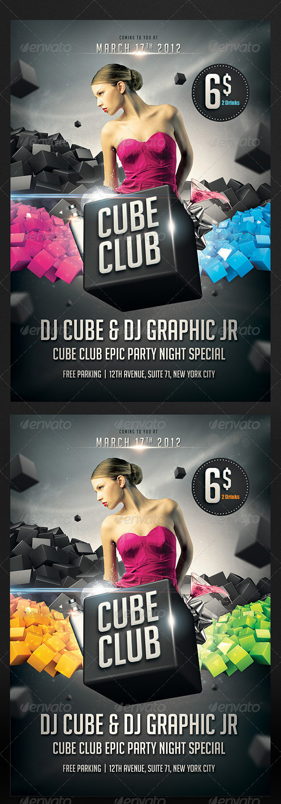 Cube Club Flyer Template