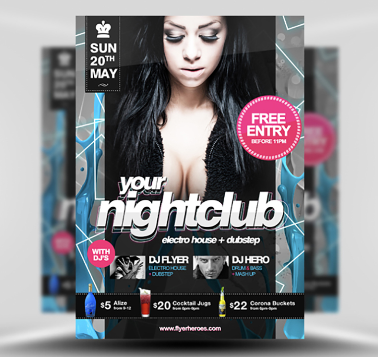 Free PSD Nightclub Party Flyer Template – Templates for Flyers Free