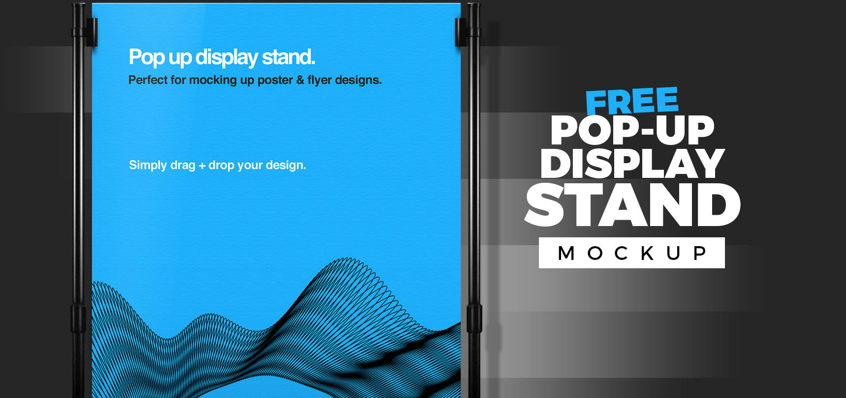 Free Pop Up Display Stand Mockup