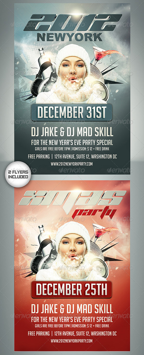 New Year / Xmas Flyer Template by Saltshaker911