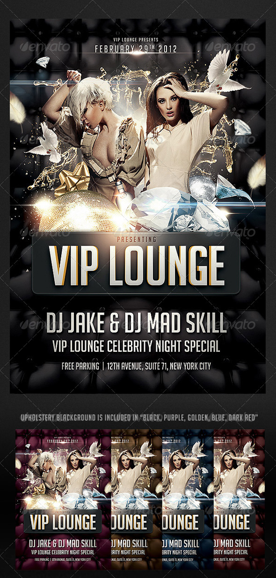 VIP Lounge Flyer Template by Saltshaker911