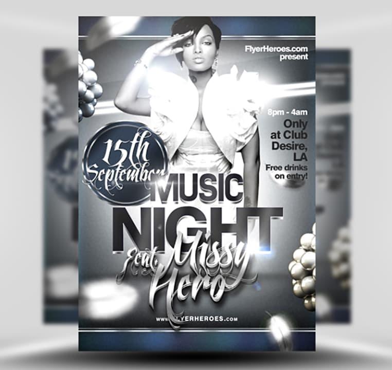 Free Music Night Flyer Template