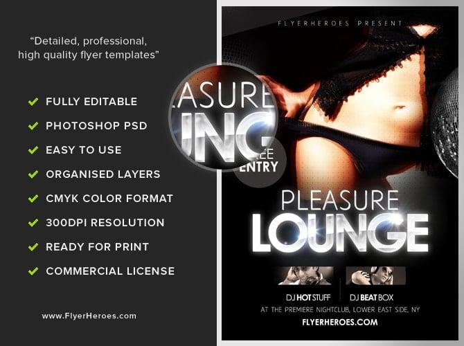 Pleasure Lounge Free Club Flyer Template – Lounge Flyer Template