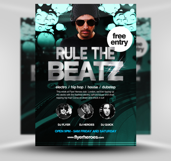 Rule the Beatz Free Flyer Template