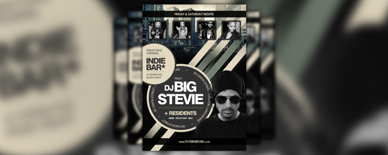 Free Indie Bar Flyer Template