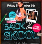 Back 2 Skool Flyer Template