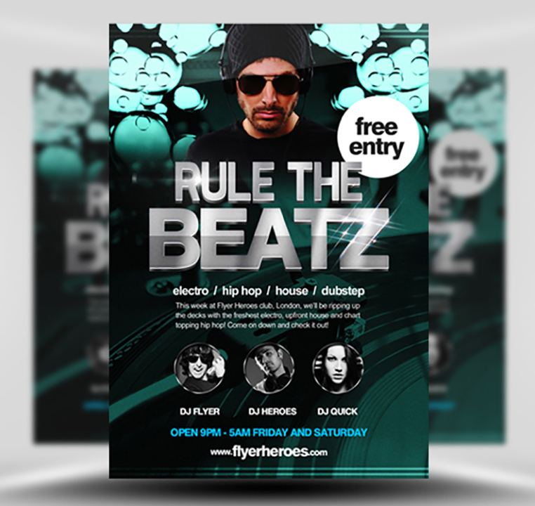 Rule the Beatz Flyer Template 1