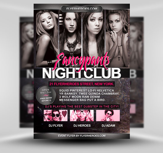 Fancypants Free Flyer Template