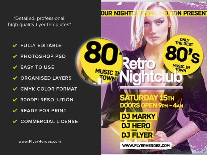 Free Retro Flyer Flyer Template PSD – Retro Flyer Templates