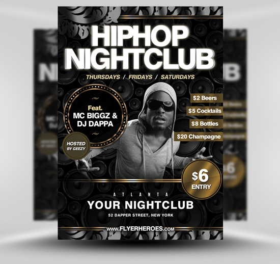 Free Flyer Fridays Hip Hop Flyer Template