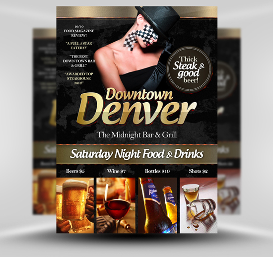 Downtown Denver Free Flyer Template