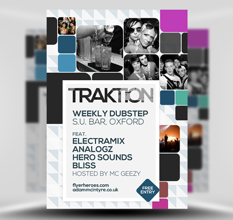 Traktion Free Student Night Flyer Template PSD – Free Product Flyer Templates