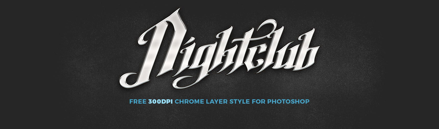 Free Chrome Layer Style for Photoshop