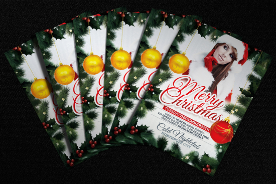 Free Xmas Flyer Template Mockup